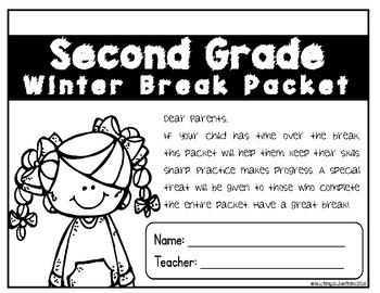2nd Grade Winter Break Packet: NO PREP