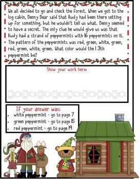 2nd Grade Winter Math Mysteries 4 Pack - Now a Download!