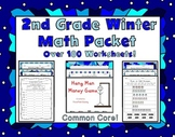 2nd Grade Winter Math Packet - Common Core Aligned!