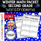 2nd Grade Winter Word Problems - 2.OA.1
