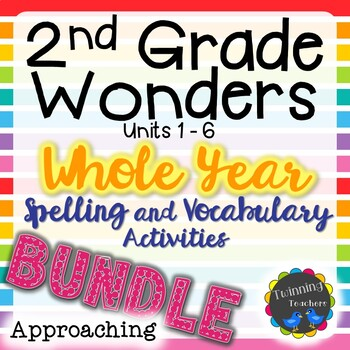 2nd Grade Wonders Approaching Lists BUNDLE