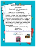 2nd Grade Wonders Assessment Cover Sheets Unit 4