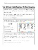 2nd Grade Wonders Assessment Cover Sheets Unit 6