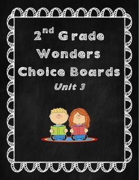 2nd Grade Wonders Choice Board- Unit 3