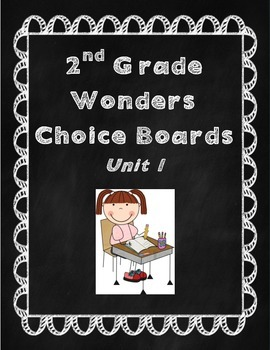 2nd Grade Wonders Choice Boards Unit 1
