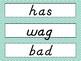 2nd Grade Wonders D'Nealian Chevron Spelling Word Cards Unit 1 - Focus Wall