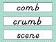 2nd Grade Wonders D'Nealian Chevron Spelling Word Cards Unit 4 - Focus Wall