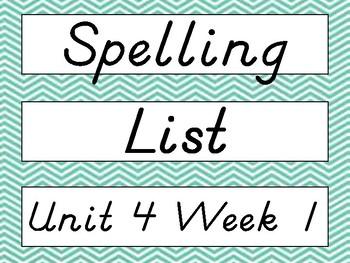 2nd Grade Wonders D'Nealian Chevron Spelling Word Cards Un