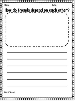 2nd Grade Wonders Essential Question Writing Response Pages
