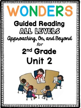 2nd Grade Wonders Guided Reading UNIT 2 BUNDLE Book Companions!