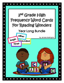 2nd Grade Reading Wonders High Frequency Word Cards -- YEAR LONG BUNDLE