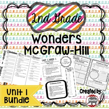 2nd Grade Wonders McGraw Hill Reading *** Unit 1 Bundle ***