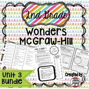 2nd Grade Wonders McGraw Hill Reading *** Unit 3 Bundle ***