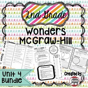 2nd Grade Wonders McGraw Hill Reading *** Unit 4 Bundle ***