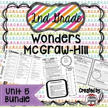 2nd Grade Wonders McGraw Hill Reading *** Unit 5 Bundle ***