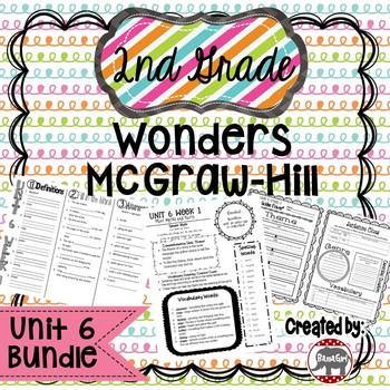 2nd Grade Wonders McGraw Hill Reading *** Unit 6 Bundle ***