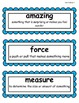 2nd Grade Wonders McGraw Hill Vocabulary Word Cards - Unit 3