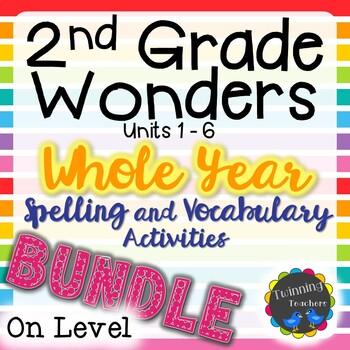 2nd Grade Wonders On Level Lists BUNDLE