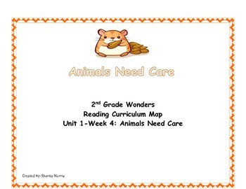 2nd Grade Wonders Reading Curriculum Map Unit 1-Week 4