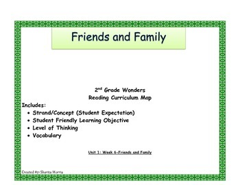 2nd Grade Wonders Reading Curriculum Map Unit 1-Week 6