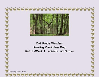 2nd Grade Wonders Reading Curriculum Map Unit 2-Week 1