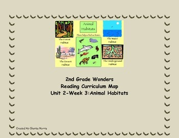 2nd Grade Wonders Reading Curriculum Map Unit 2-Week 3
