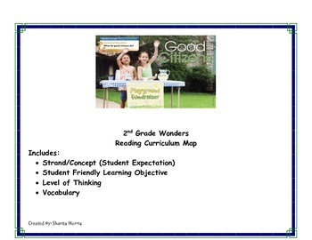 2nd Grade Wonders Reading Curriculum Map Unit 5-Week 1