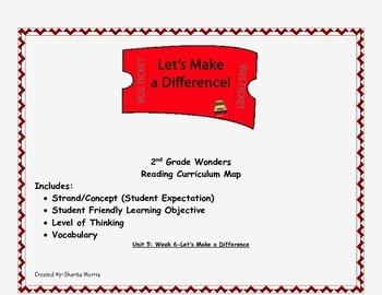 2nd Grade Wonders Reading Curriculum Map Unit 5-Week 6