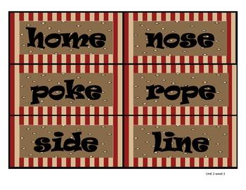 2nd Grade Wonders Reading Series Unit 2 Spelling Word Cards