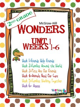 2nd Grade Wonders (2014) Reading  Unit 1 Bundle