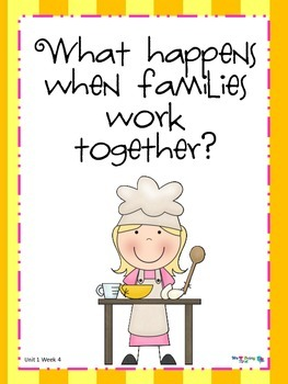 2nd Grade Wonders Reading  Unit 1 Week 5 ~ Families Working Together
