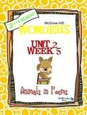 2nd Grade Wonders Reading ~ Unit 2 Week 5 ~ Animals in Poems