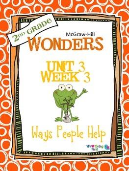 2nd Grade Wonders Reading ~ Unit 3 Week 3 ~ Ways People Help