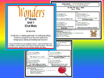 2nd Grade Wonders Resource Unit 1