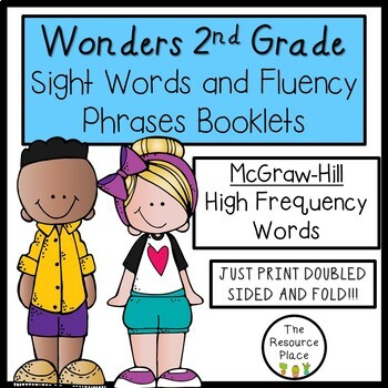2nd Grade Wonders Sight Word Booklets