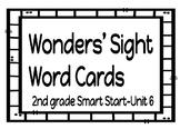 2nd Grade Wonders Sight Word Cards