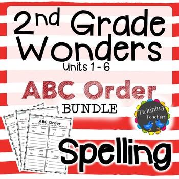 2nd Grade Wonders Spelling - ABC Order BUNDLE