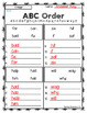 2nd Grade Wonders Spelling - ABC Order - On Level Lists - UNITS 1-6