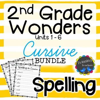 2nd Grade Wonders Spelling - Cursive BUNDLE