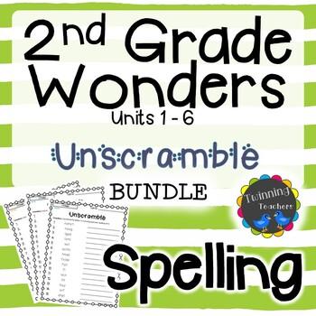 2nd Grade Wonders Spelling - Unscramble BUNDLE