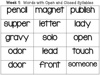 2nd Grade Wonders Spelling Word Cards Unit 6 Weeks 1-5