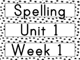 2nd Grade Wonders Spelling and Vocabulary Words - Focus Wa