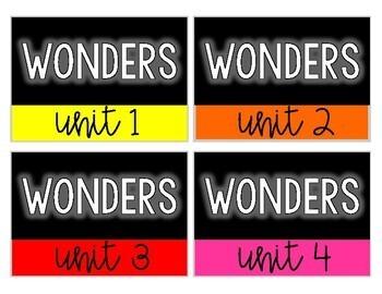 2nd Grade Wonders Storage Labels