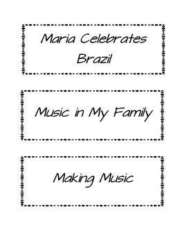 2nd Grade Wonders- Story Titles Units 1-6