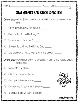 2nd Grade Wonders Unit 1 Week 1 Grammar Charts and Assessments
