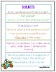2nd Grade Wonders Unit 1 Week 3 Grammar Charts and Assessments