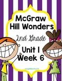 2nd Grade Wonders Unit 1 Week 6 Assessments