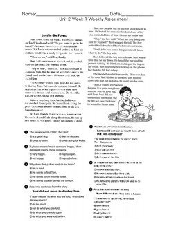 2nd Grade Wonders Unit 2 Compressed Tests