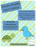 2nd Grade Wonders Unit 2 Differentiated Outlines