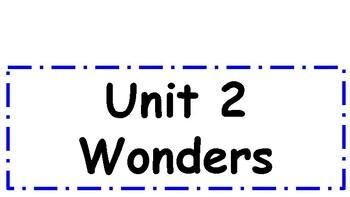 2nd Grade Wonders Unit 2 Weekly Focus Wall Signs